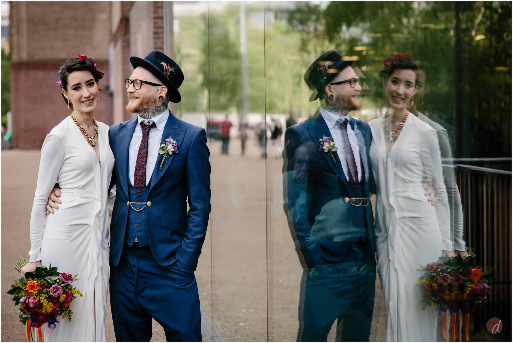 turbine hall modern wedding photographs