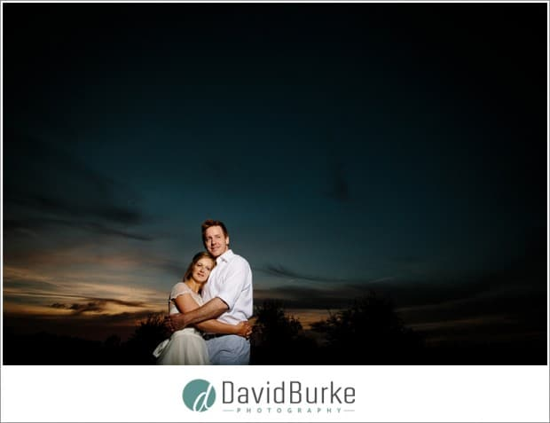 Couple at sunset at Whetsted Farm (wise wedding venue) (14)