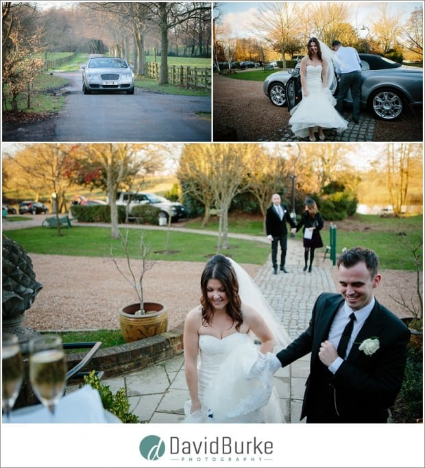 bride and groom arrive at chilston(37)