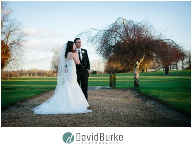 chilston park bride and groom