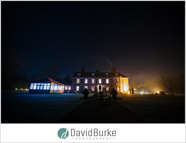 chilston park lit up at night