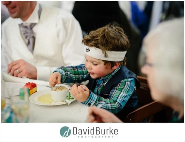 funny kid at wedding