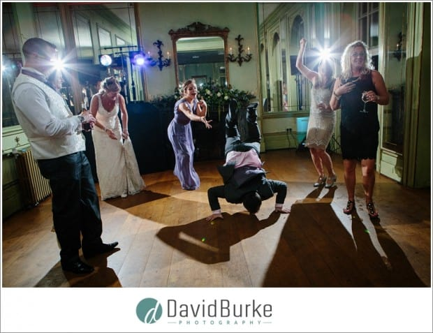 wedding guest breakdancing