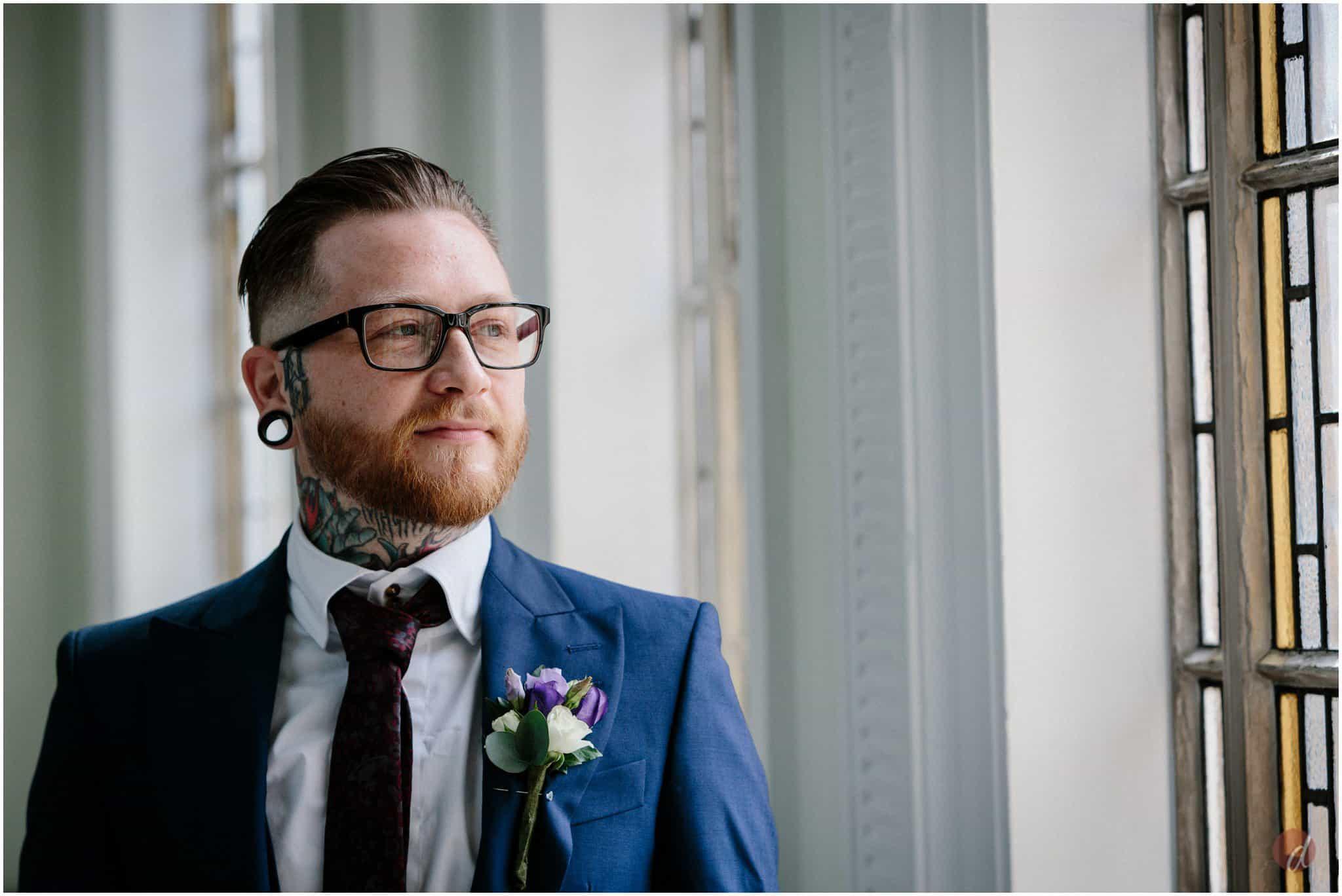 funky groom at wedding