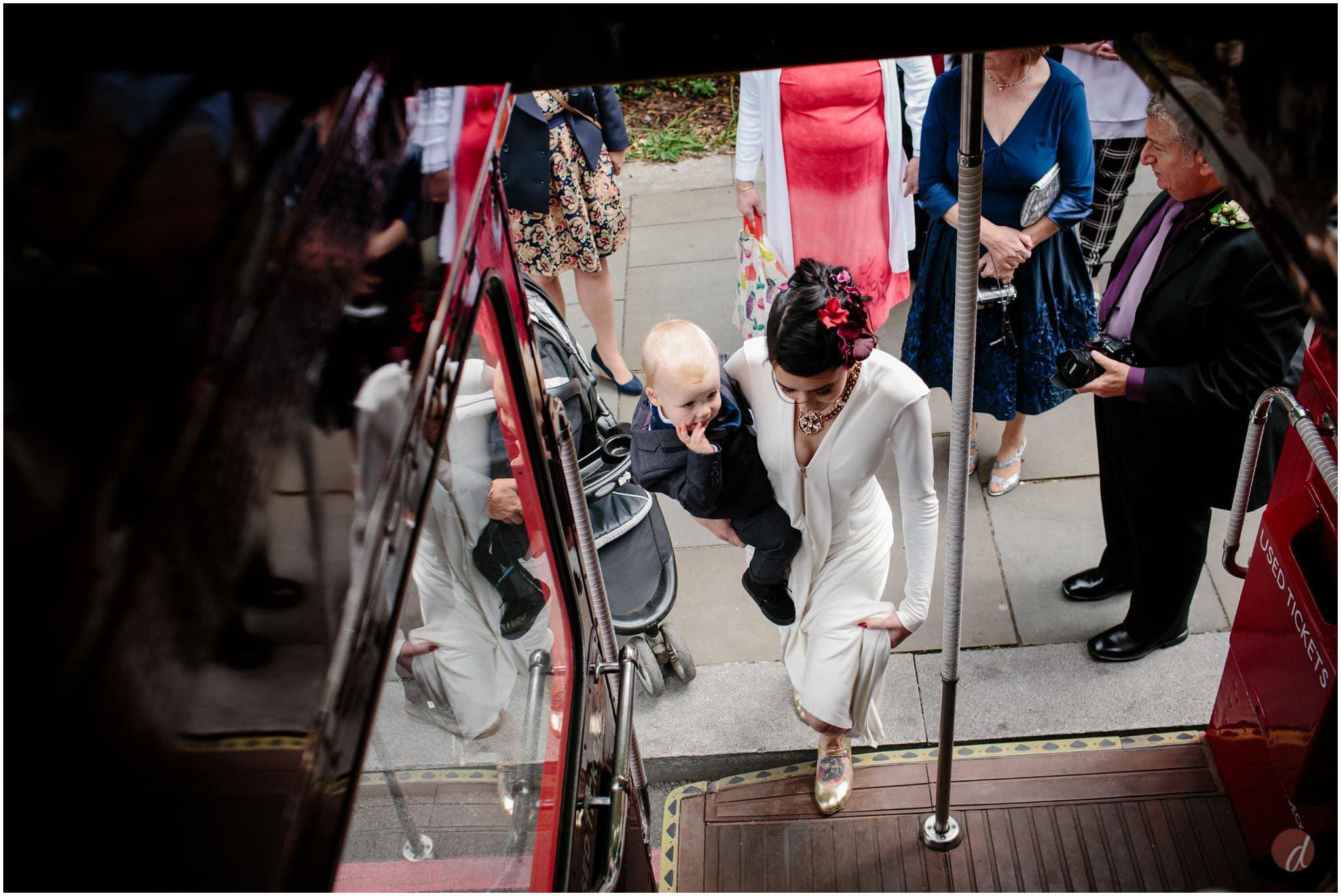 routemaster bus at wedding
