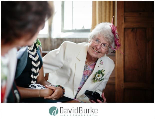 granny in wedding