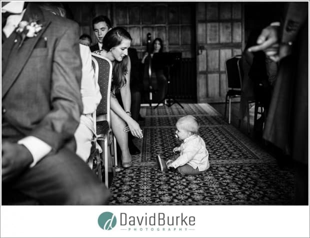 baby in ceremony lympne castle