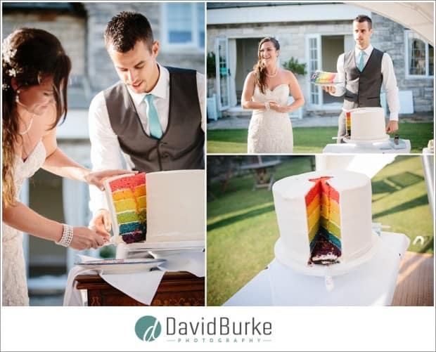 multicoloured wedding cake
