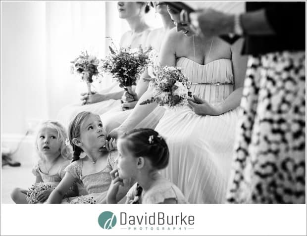 flowergirl and bridesmaid