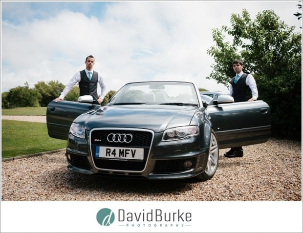 groom and best man with audi