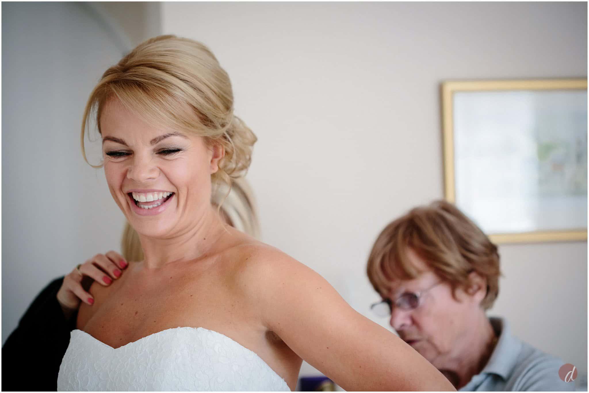 happy bride in stewart parvin