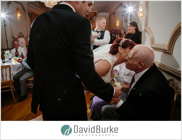 bride kissing grandad