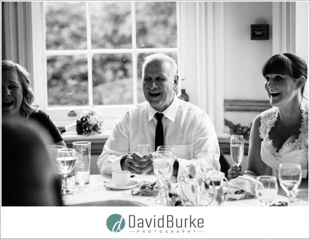 dad laughing during speeches
