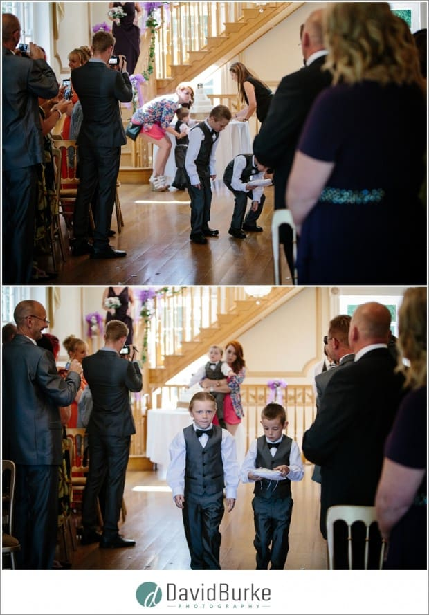 ring bearers dropping rings