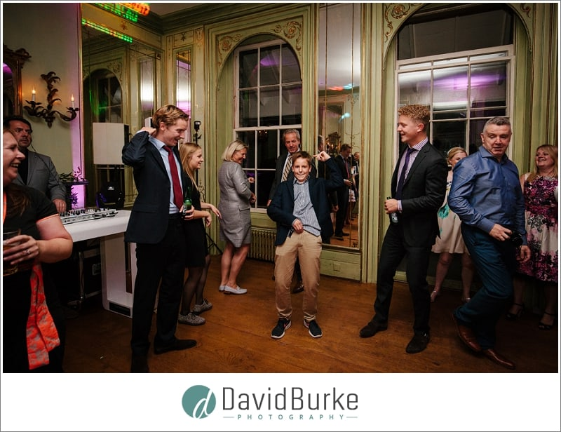 moonwalking kid at wedding