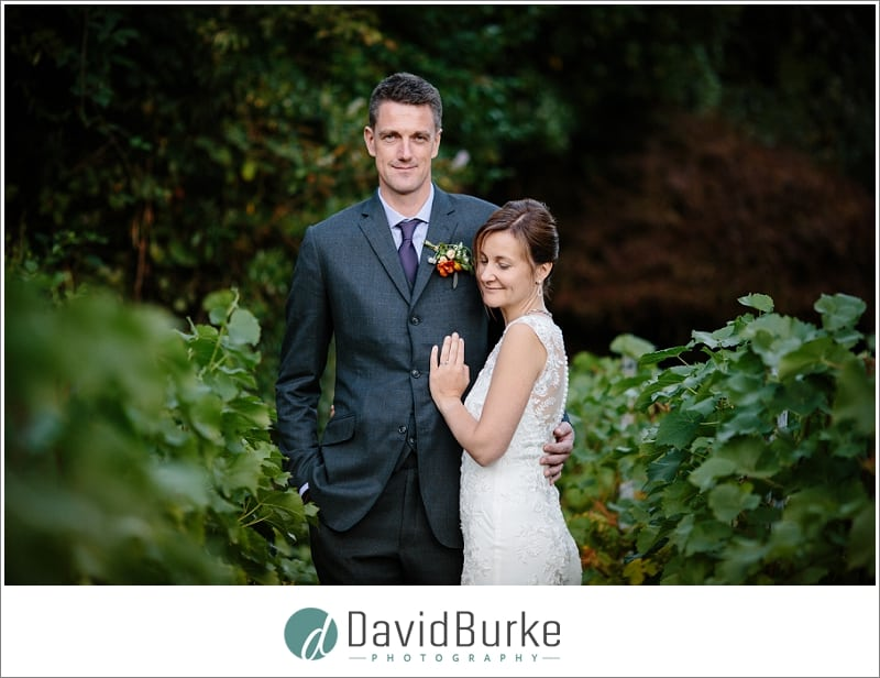 bride and groom in vineyard hotel du vin tunbridge wells