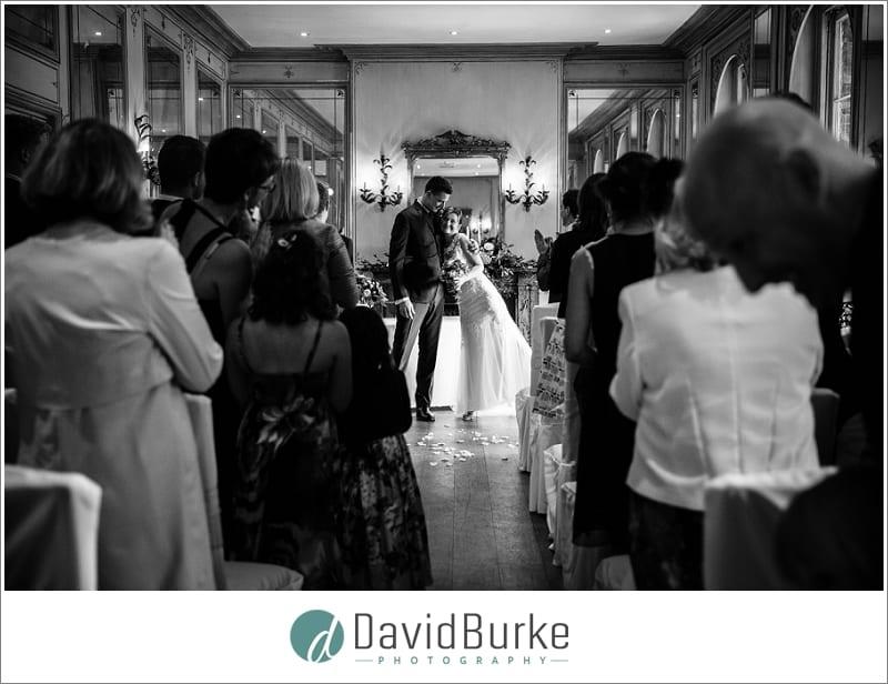 bride and groom exit hotel du vin tunbridge wells
