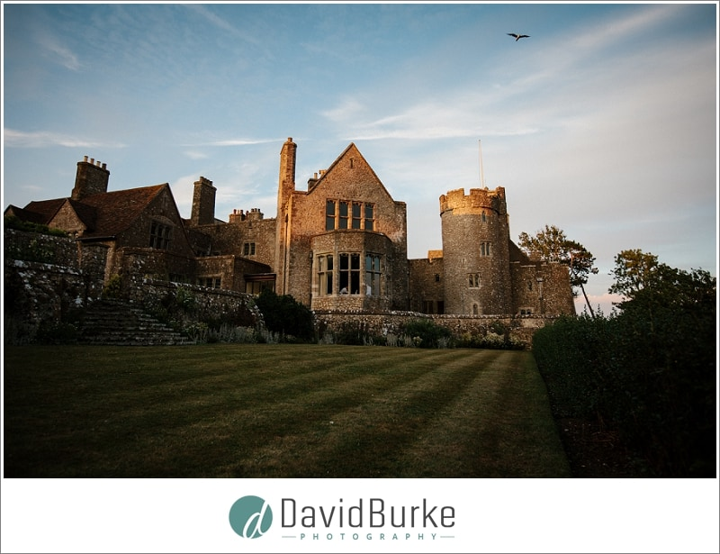 lympne castle with bird in sky