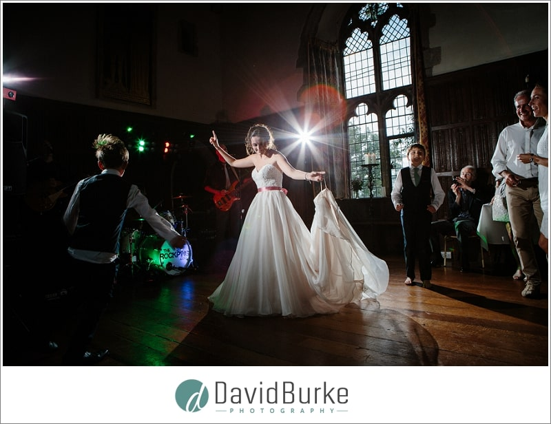 bride dancing lympne castle