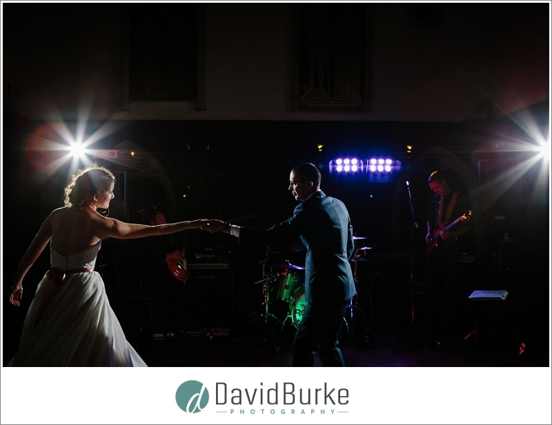 bride and groom dancing lympne castle