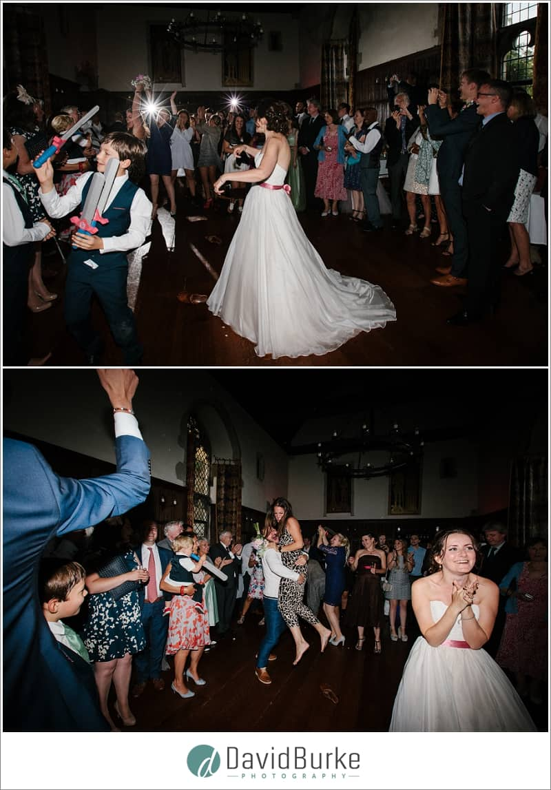 indoor bouquet toss