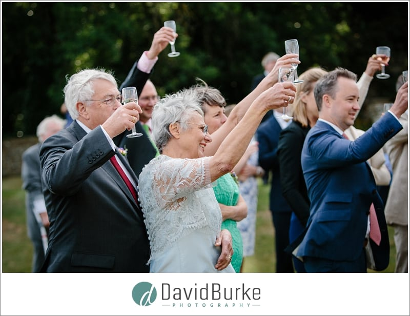 toasting guests