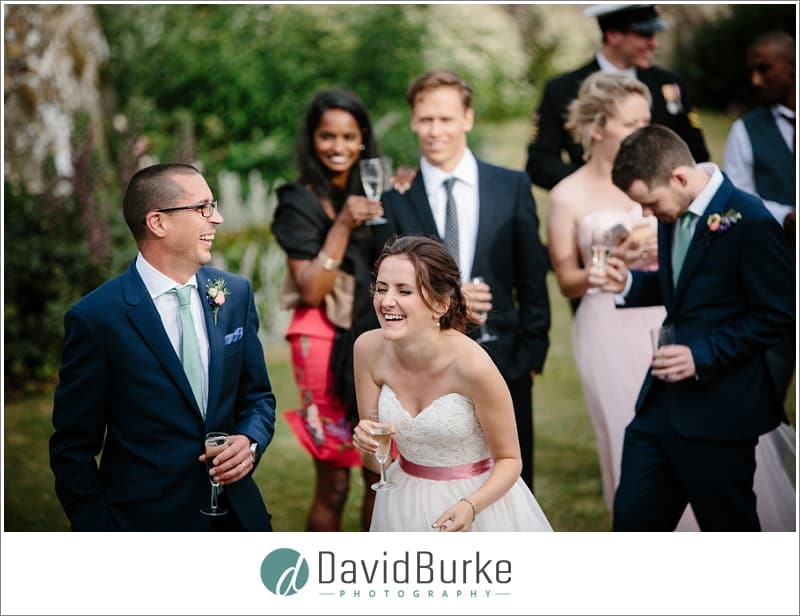 laughing bride in speeches
