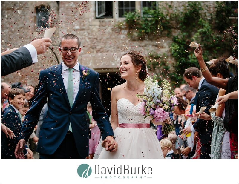 confetti at lympne castle wedding