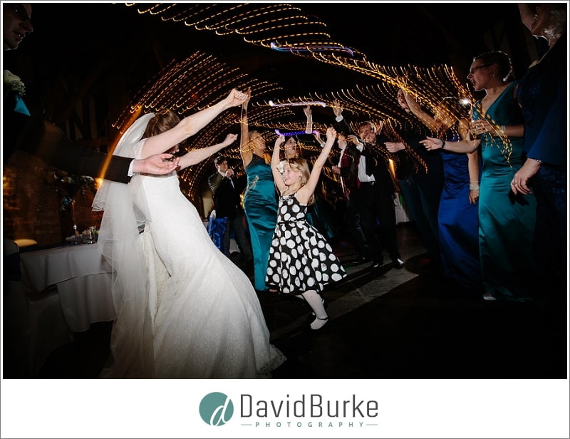bride dancing with girl