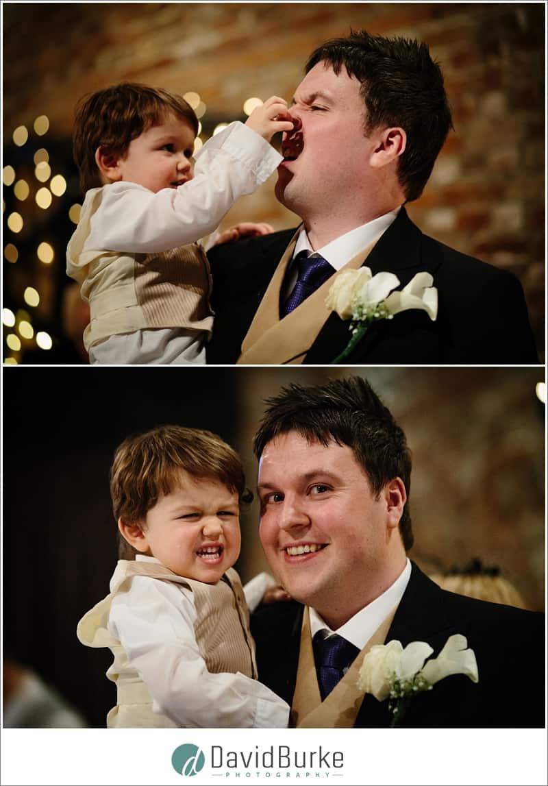 groom with nephew