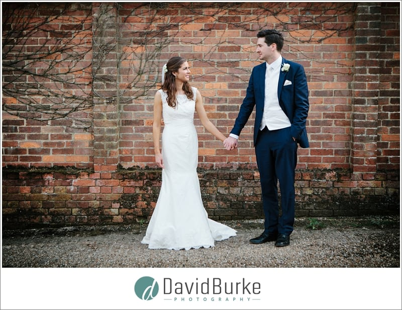 wedding couple at great barn rolvenden