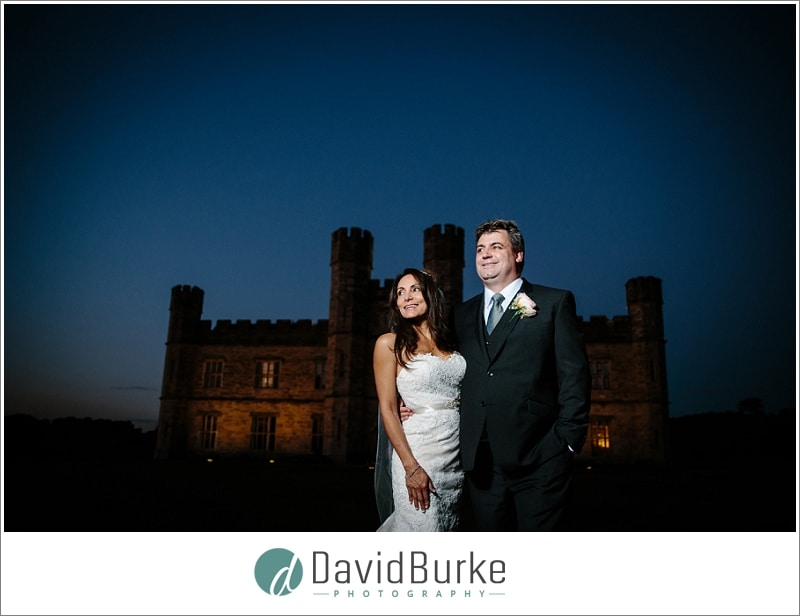 leeds castle couple at night
