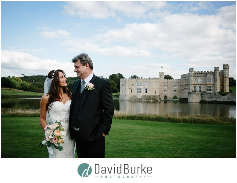 leeds castle bride and groom