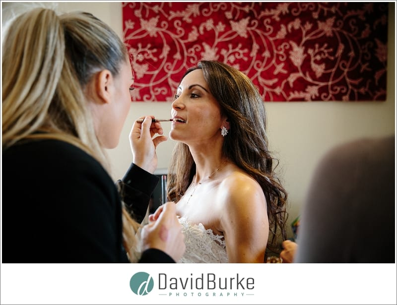 last minute makeup touch up for bride