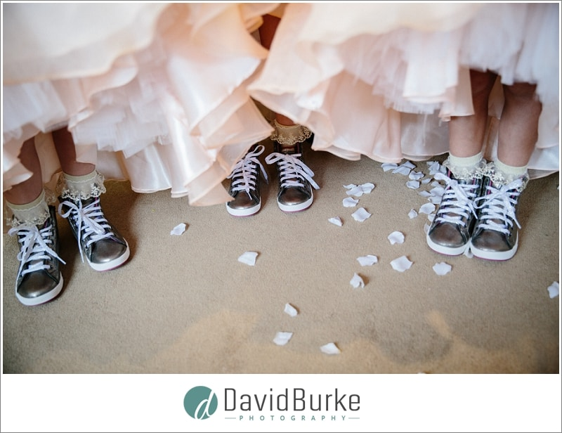 bridesmaids wearing converse