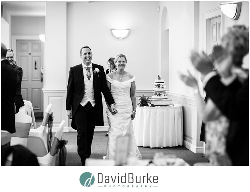 bride and groom entrance the orangery maidstone