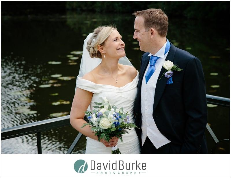 wedding couple near lake the orangery