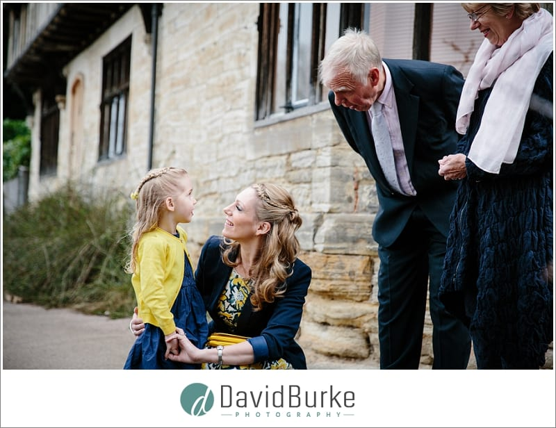 lovely family at wedding