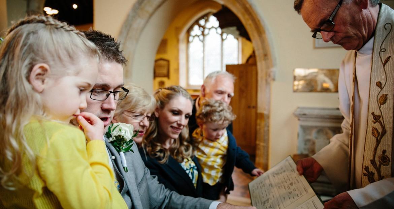 surprise wedding vow renewal at penshurst church