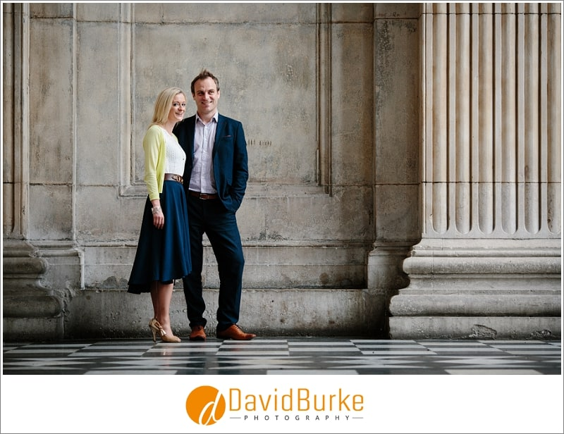 engagement shoot at st pauls