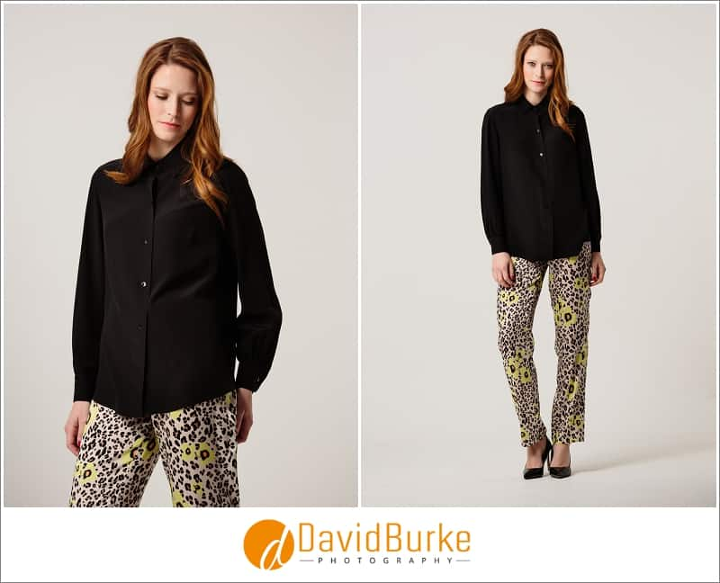 stewart parvin black shirt and leopard trousers