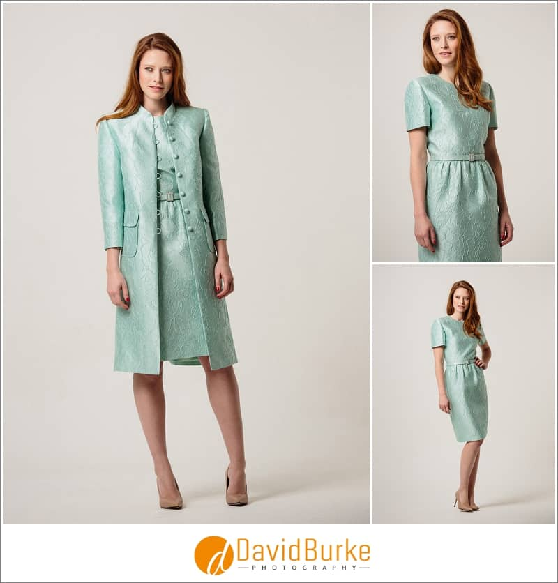 stewart parvin mint brocade dress and coat