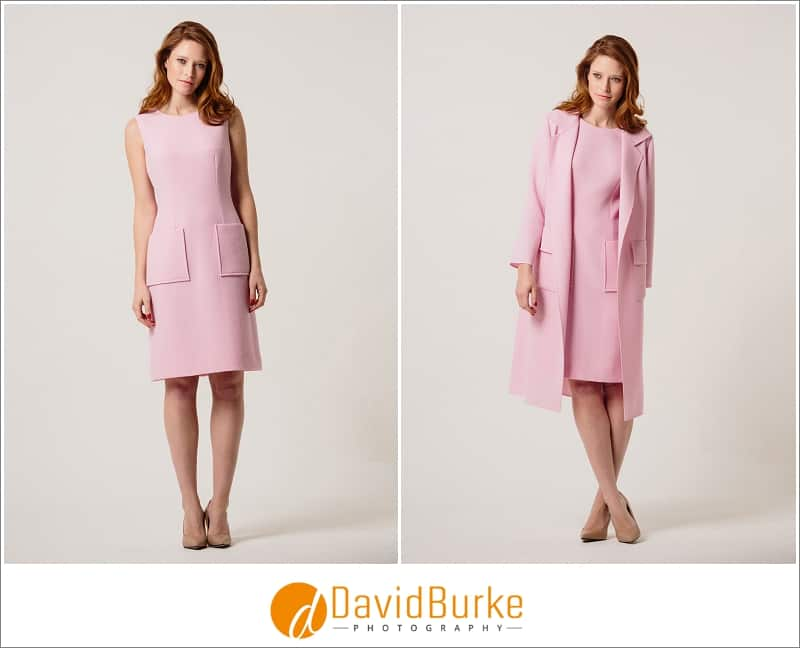 stewart parvin pink wool crepe dress and jacket
