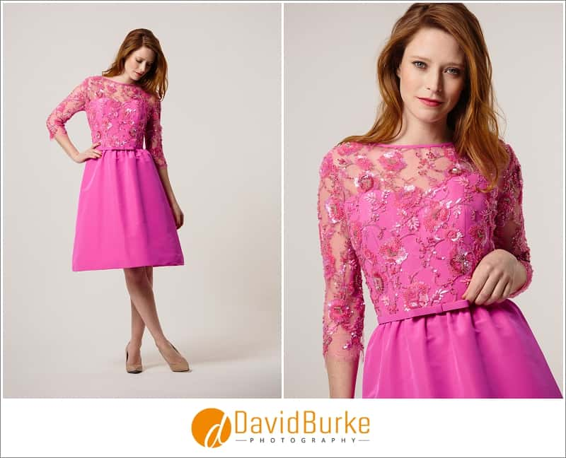 stewart parvin hot pink cocktail dress