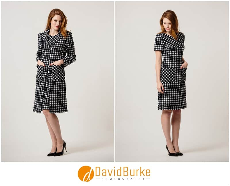 stewart parvin navy and white tweed dress and coat