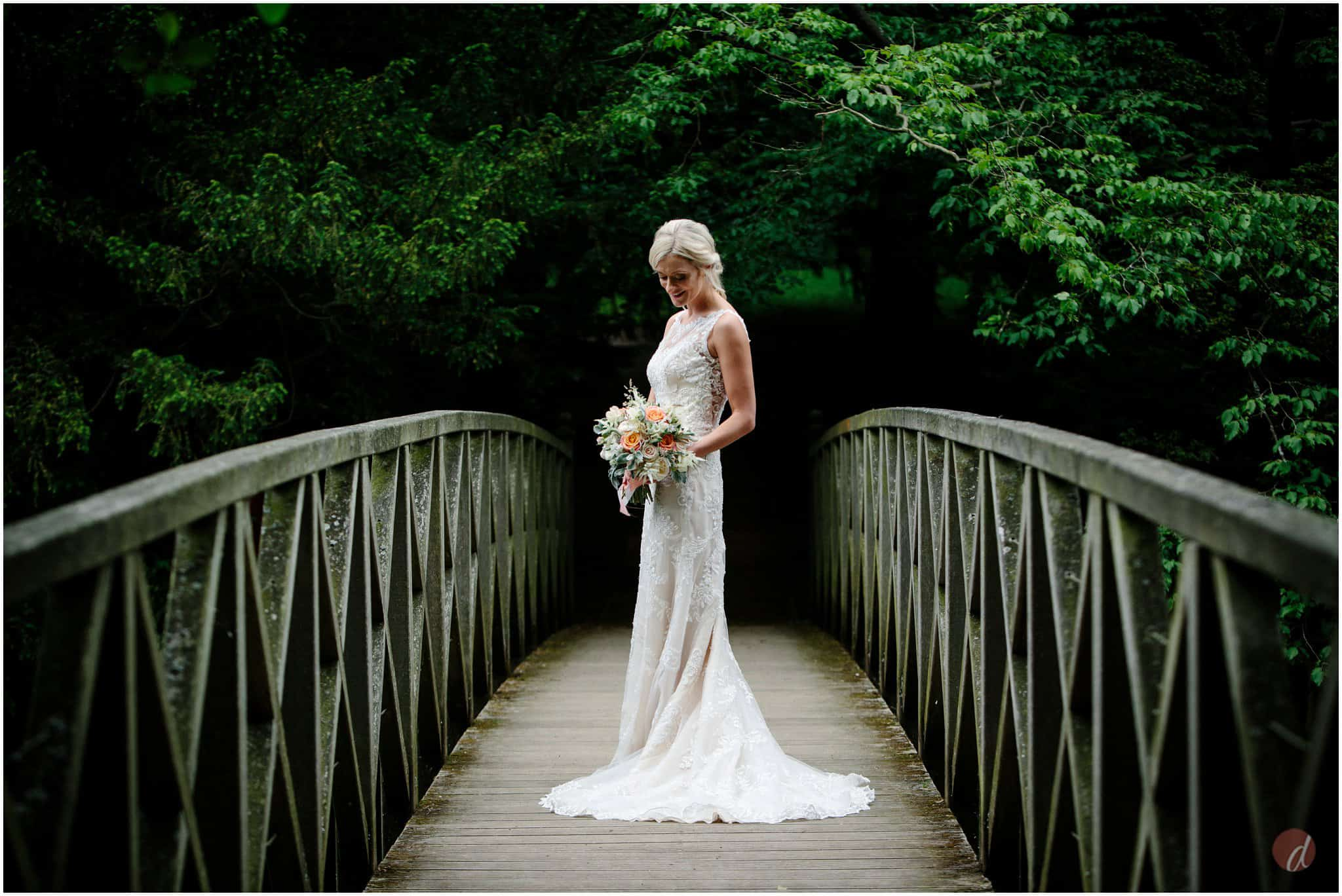 chiddingstone castle bridge wedding photos