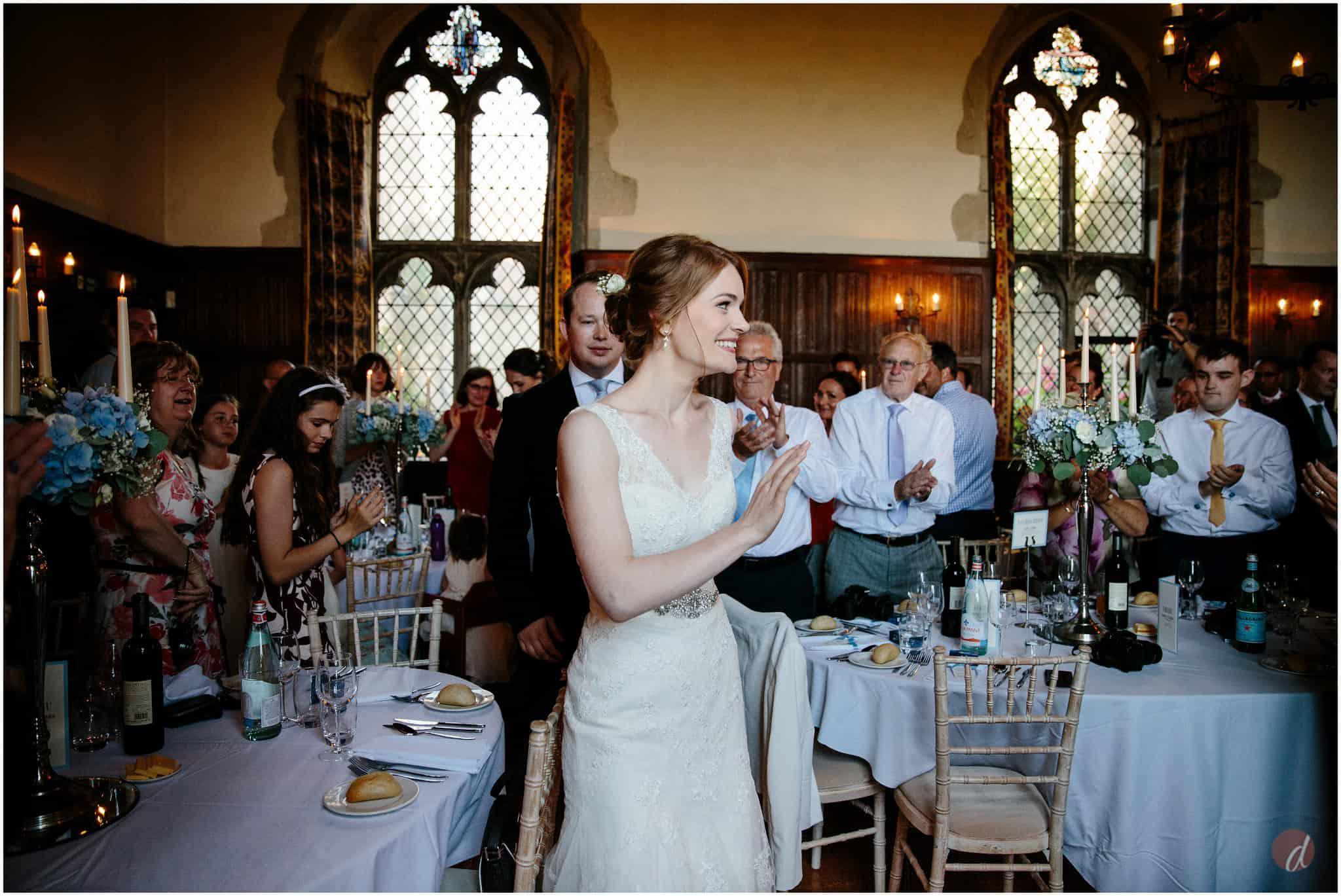 ride and groom lympne castle wedding reception