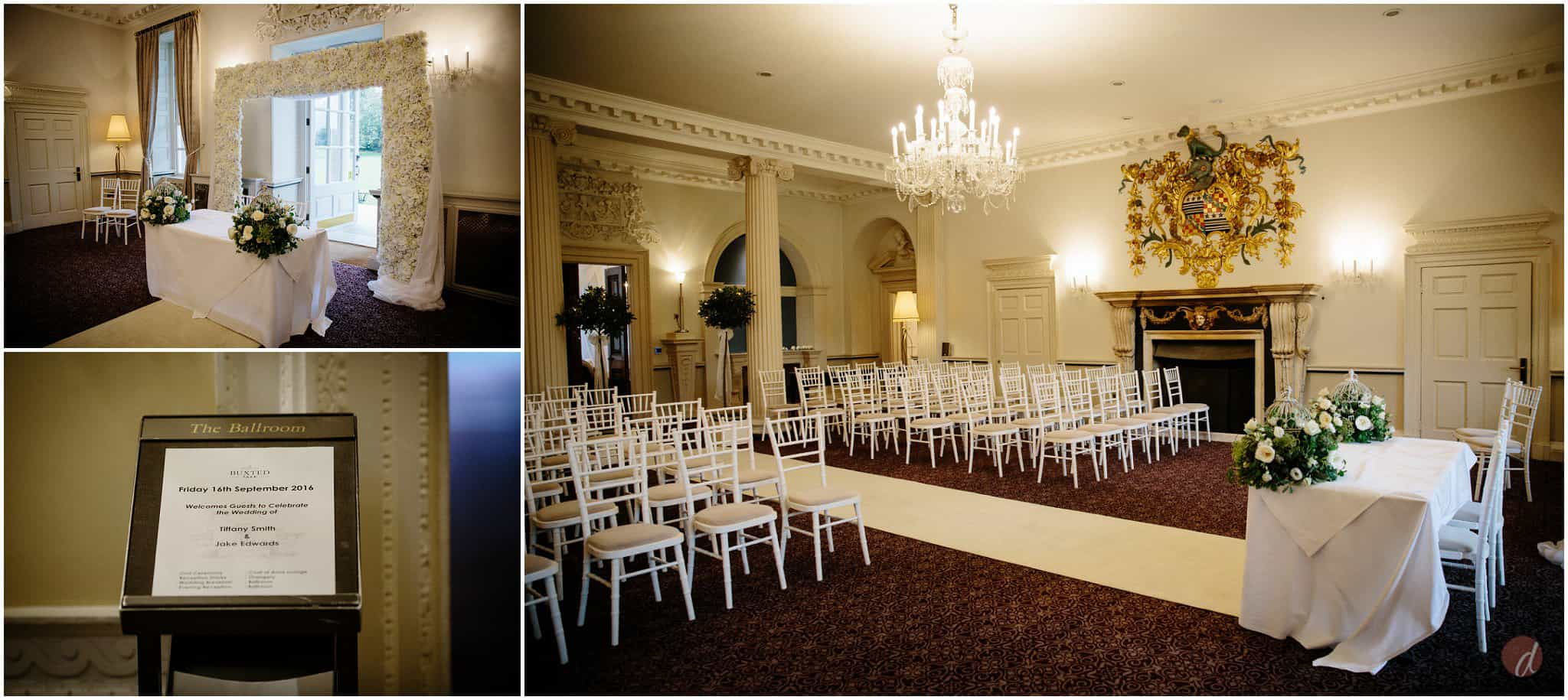 buxted park hotel ceremony room