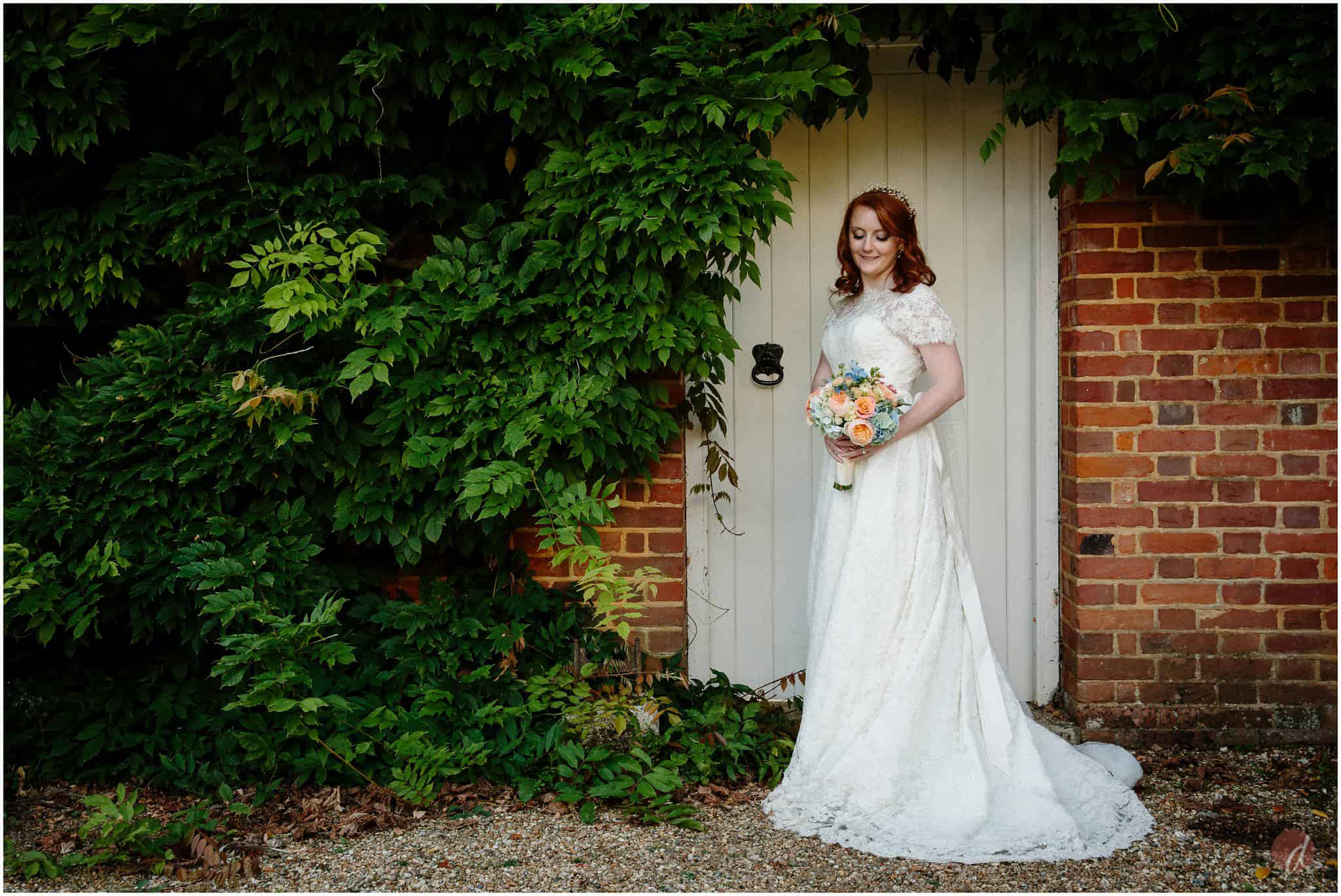 bride at squerryes court wedding