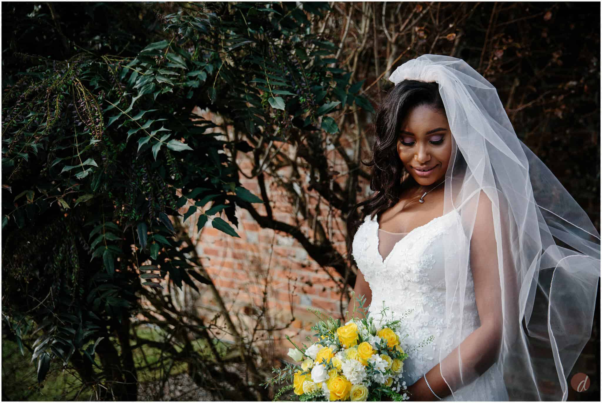 stunning bride at cooling castle